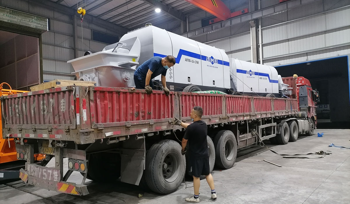 ABT80C diesel concrete pump to Sri Lanka