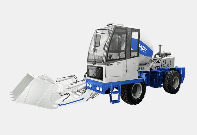 AS-2.6 betoneira móvel de carregamento automático