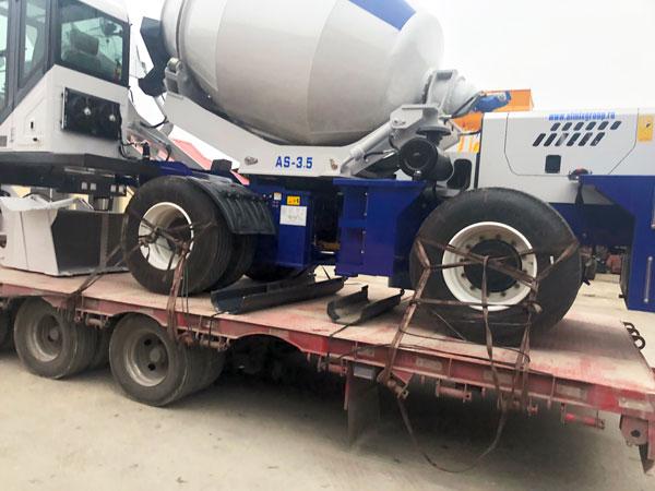 AS-3.5 self-loading concrete mixer to Almaty