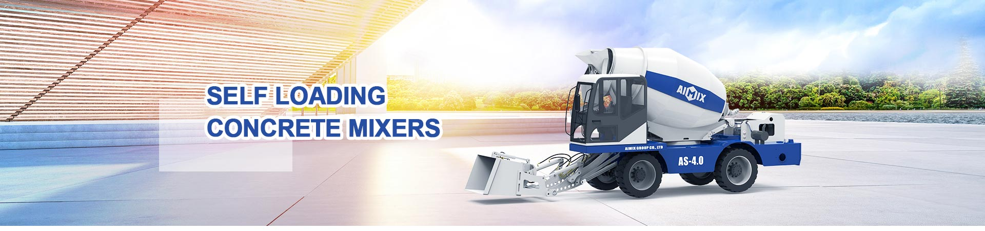 Misturadores de concreto de carregamento automático - com o melhor preço de misturador móvel de carregamento automático