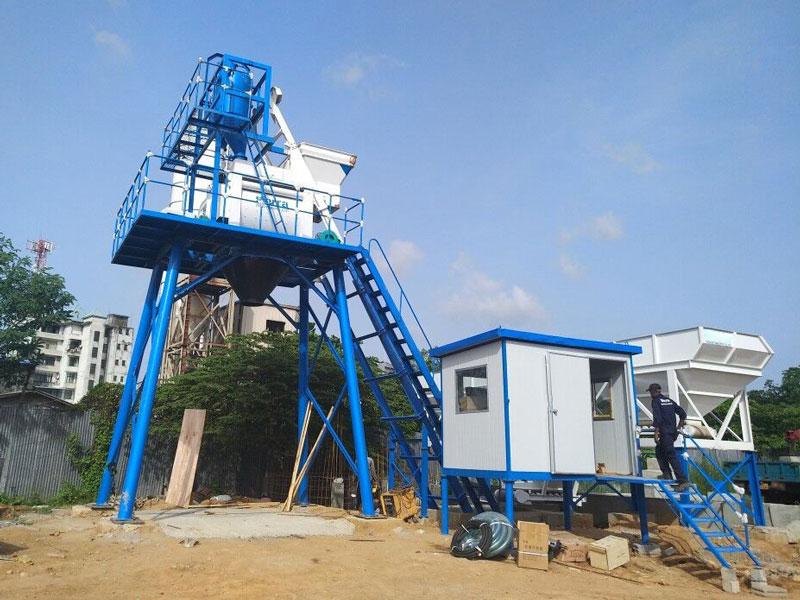 50m3 small concrete mixing plant in Sri Lanka