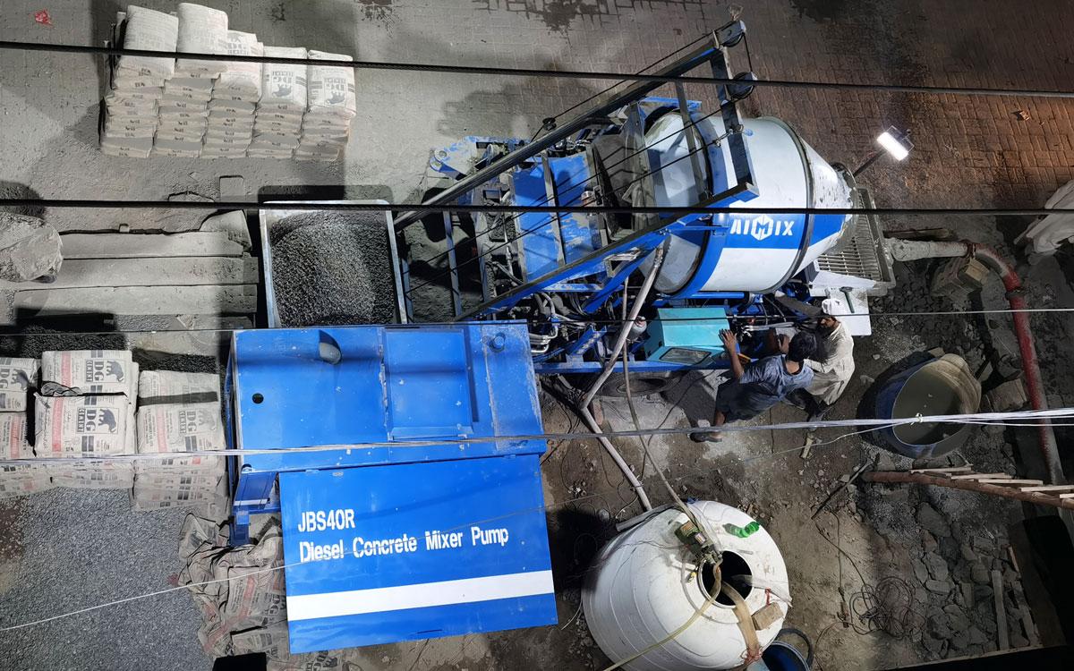ABJZ40C concrete mixer with pump Pakistan