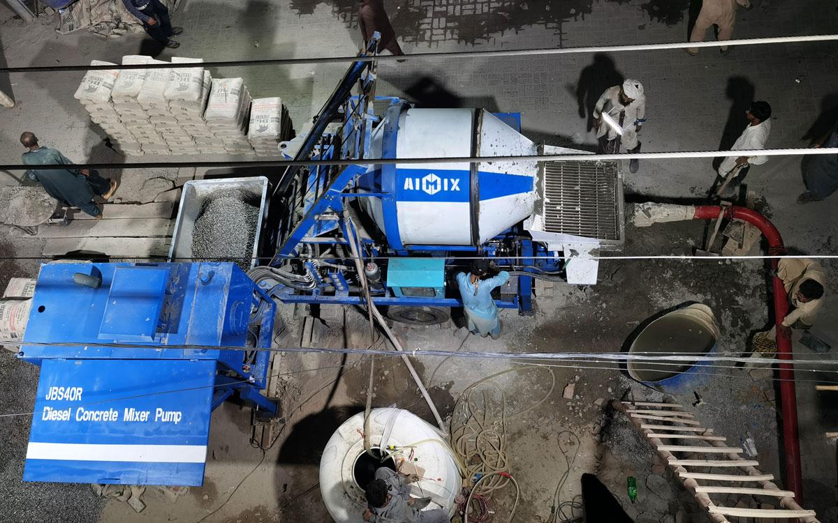 ABJZ40C diesel cement mixer pump in Pakistan