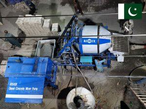 ABJZ40C diesel concrete mixer with pump Pakistan