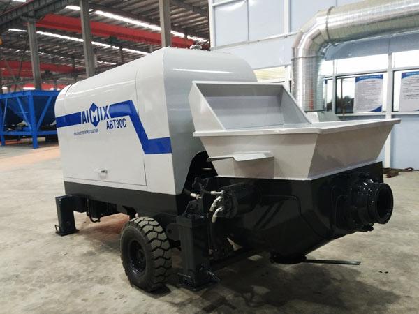 ABT30C concrete pump with diesel engine Indonesia