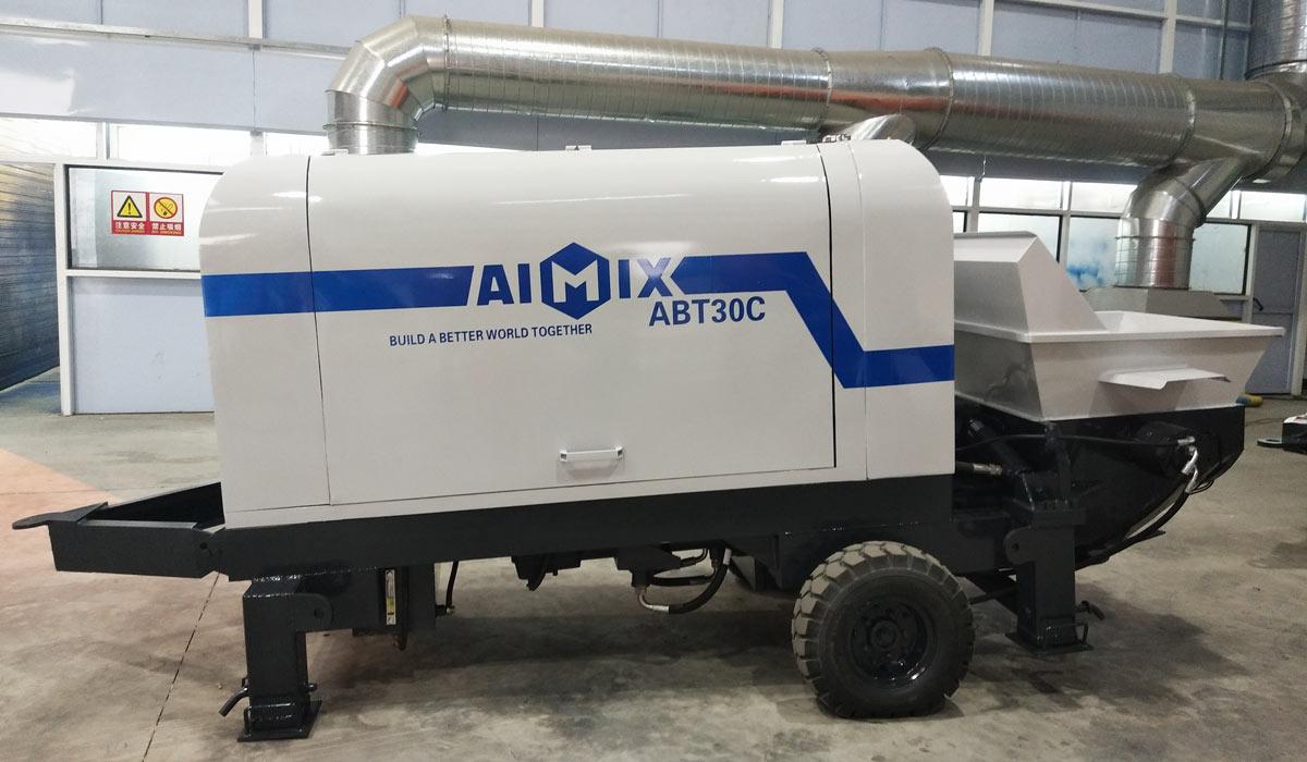 ABT30C diesel concrete pump Indonesia