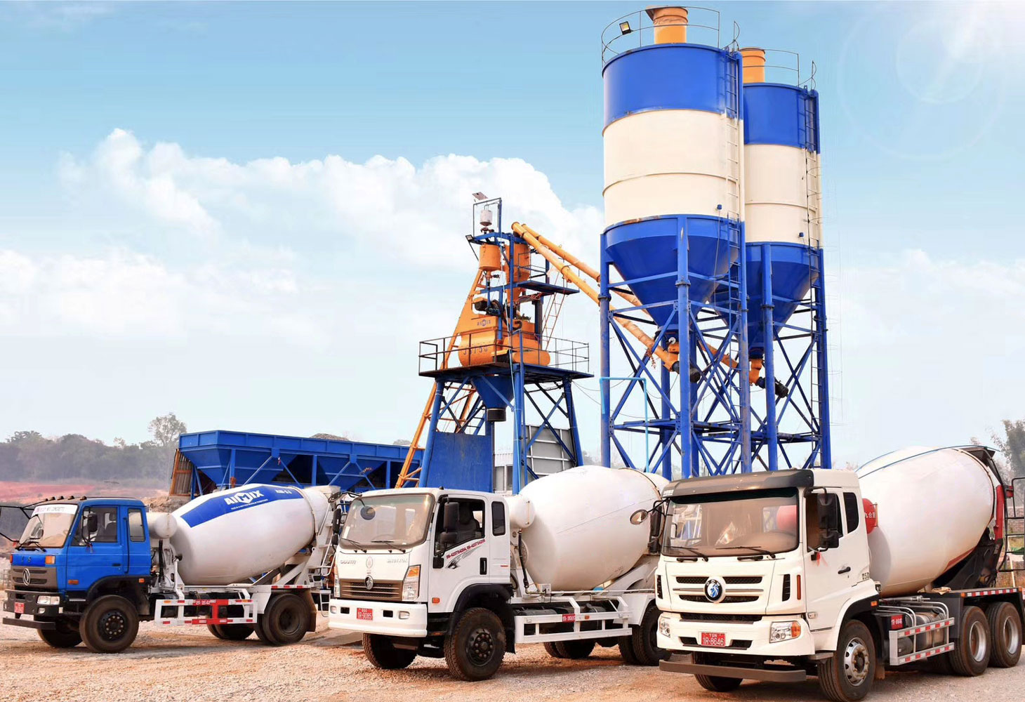 AJ-35 small batching plant installed in Myanmar