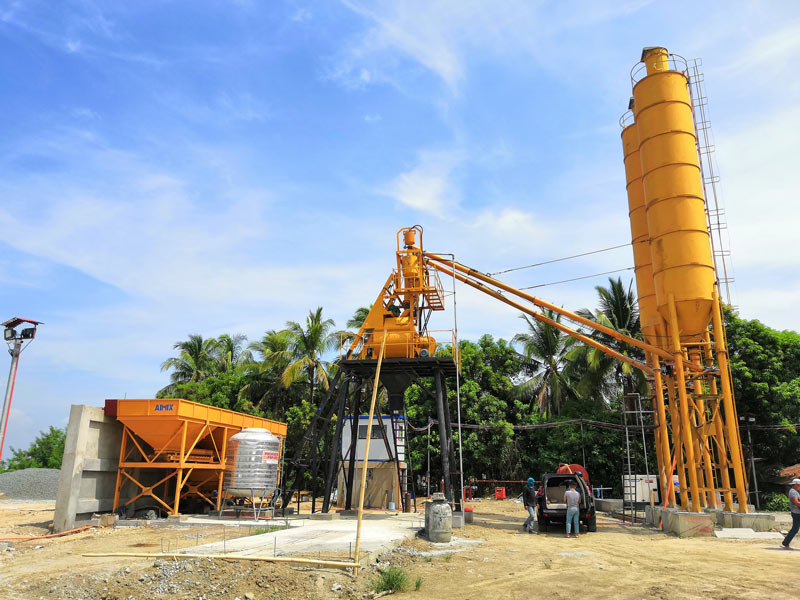 AJ-35 small concrete batching plant in the Philippines