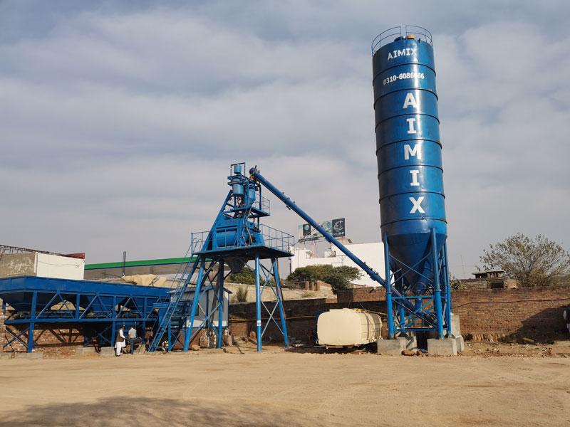 AJ-50 small batch plant in Pakistan