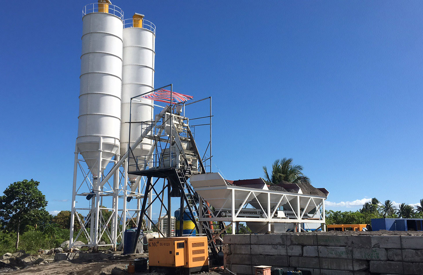 AJ-50 small batching plant in the Philippines