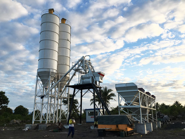 AJ-50 small concrete batching plant in the Philippines