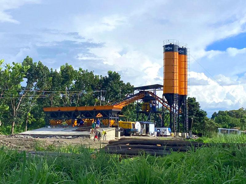 AJ-60 belt type concrete plant Philippines