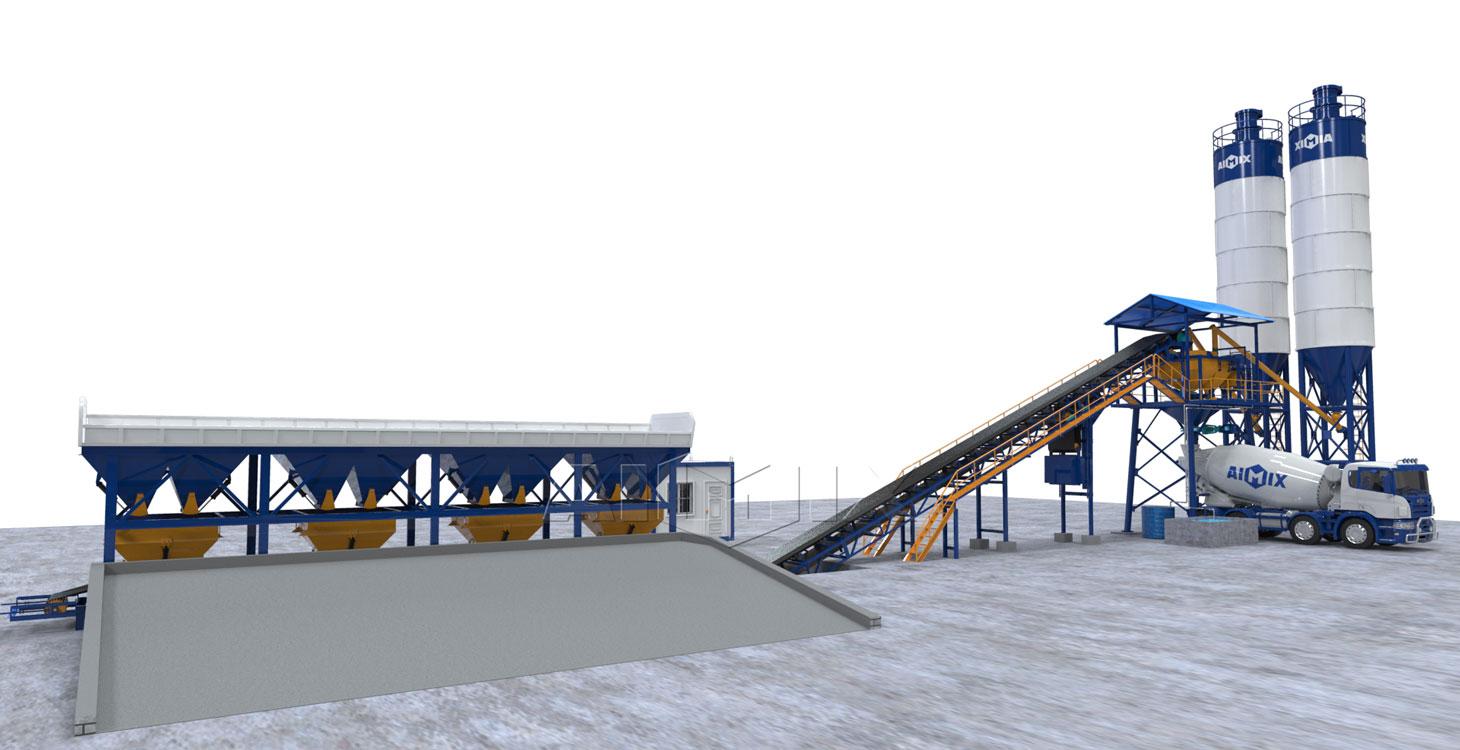 AJG60 dry concrete plant