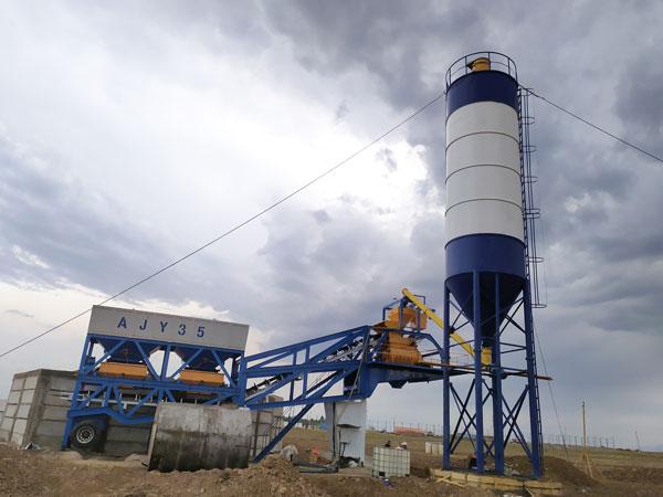 AJY-35 mobile batching plant Uzbekistan