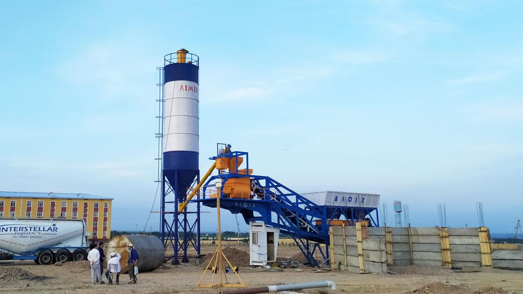 AJY-35 mobile concrete plant Uzbekistan