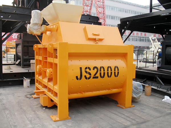 JS2000 twin-shaft batch mixer