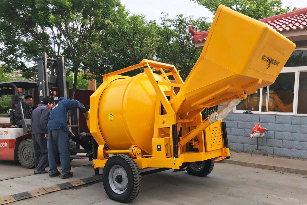 JZR350 diesel concrete mixer machine
