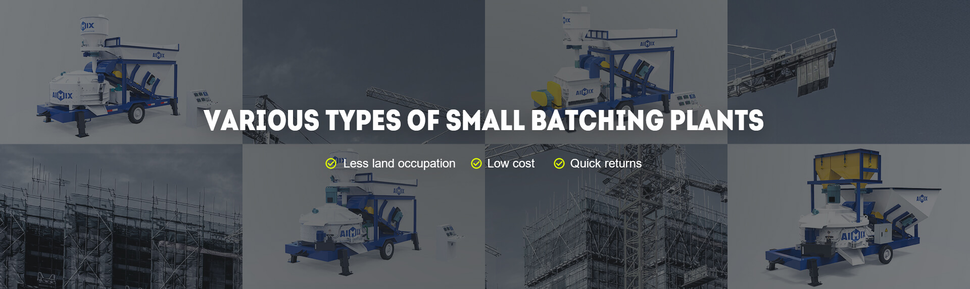 Various Types of Small Concrete Batching Plant