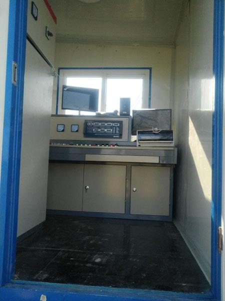 control room of small concrete plant
