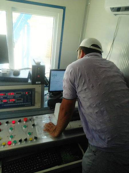 control system of AJ-35 small concrete plant