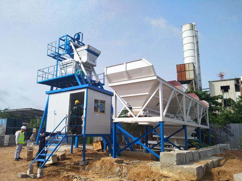small concrete plant in Sri Lanka