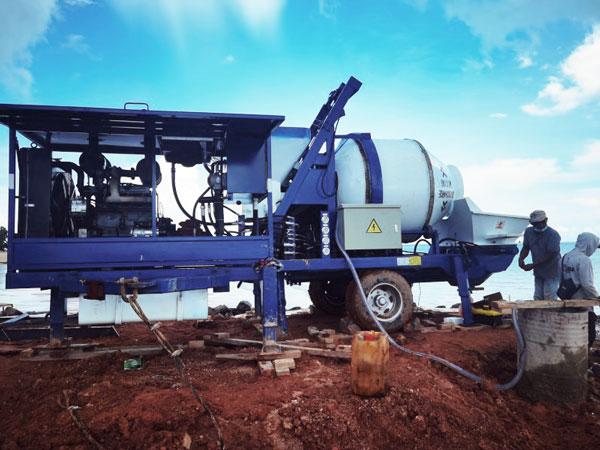 40m3 concrete mixer pump in Bangka Indonesia