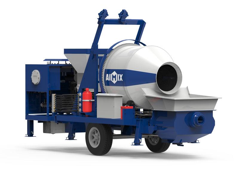 ABJZ30C concrete mixer with pump
