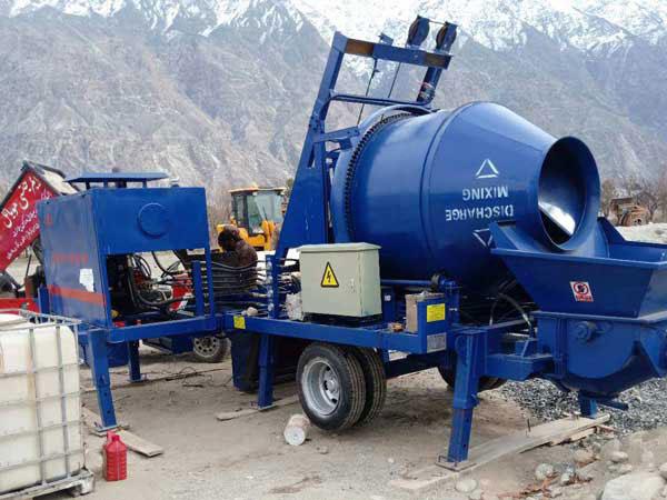 ABJZ40C diesel cement mixer pump worked in Pakistan
