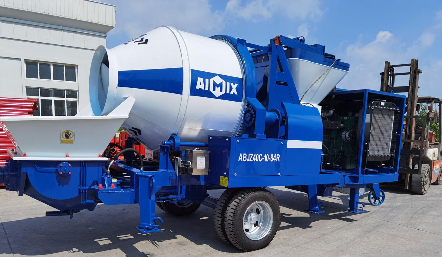 ABJZ40C diesel cement mixer pump