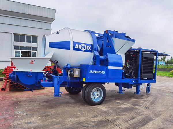 ABJZ40C diesel concrete mixer pump to Jamaica