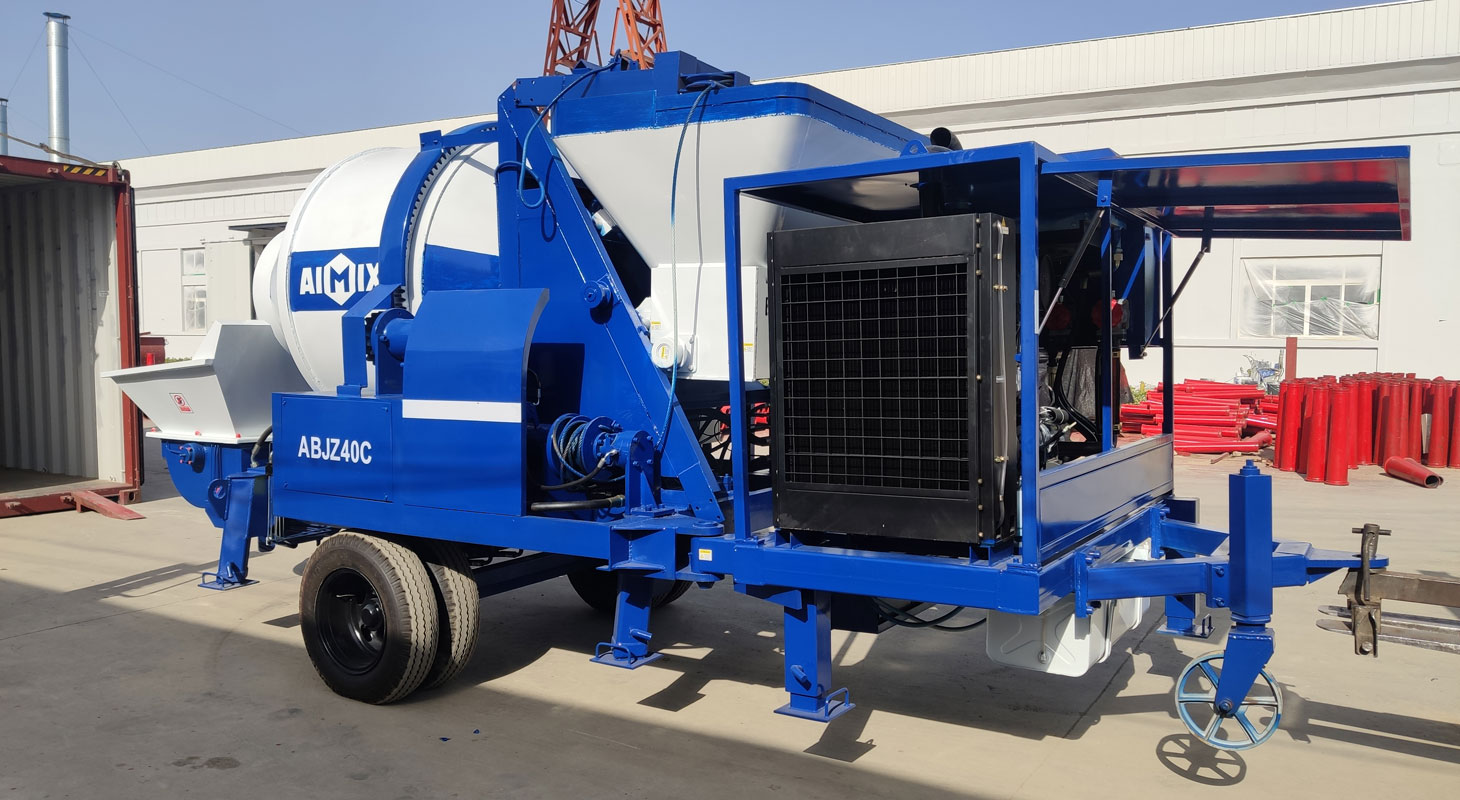 ABJZ40C diesel concrete mixer pump was exported to Indonesia