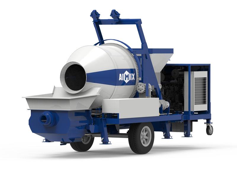 ABJZ40C diesel engine concrete mixer pump