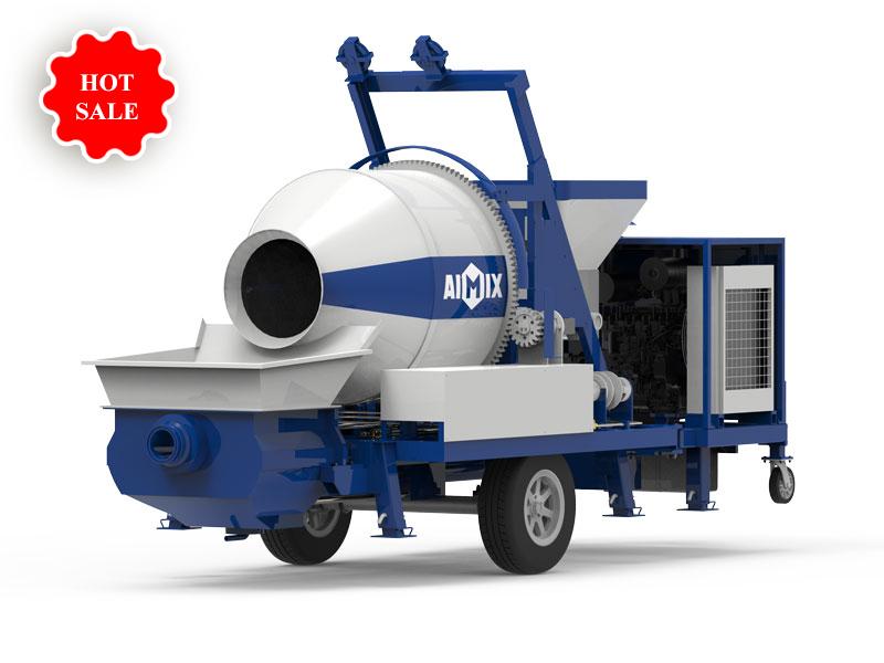 ABJZ40C diesel engine concrete mixer pump AIMIX