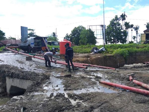 ABT30C diesel concrete pump in Papua