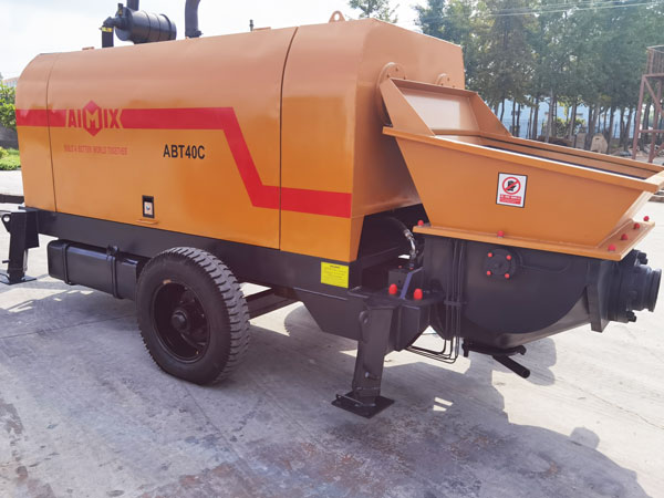 ABT40C diesel concrete pump Indonesia