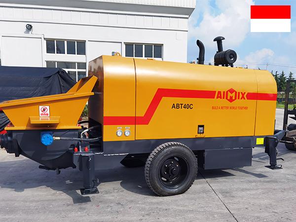 ABT40C diesel engine concrete pump to Indonesia