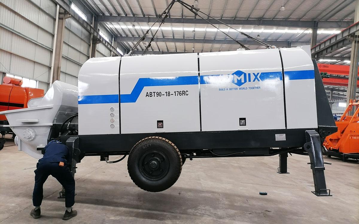ปั๊มคอนกรีตเครื่องยนต์ดีเซล ABT90C