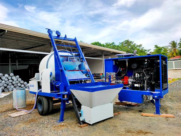 AIMIX ABJZ40C diesel small concrete mixer pump