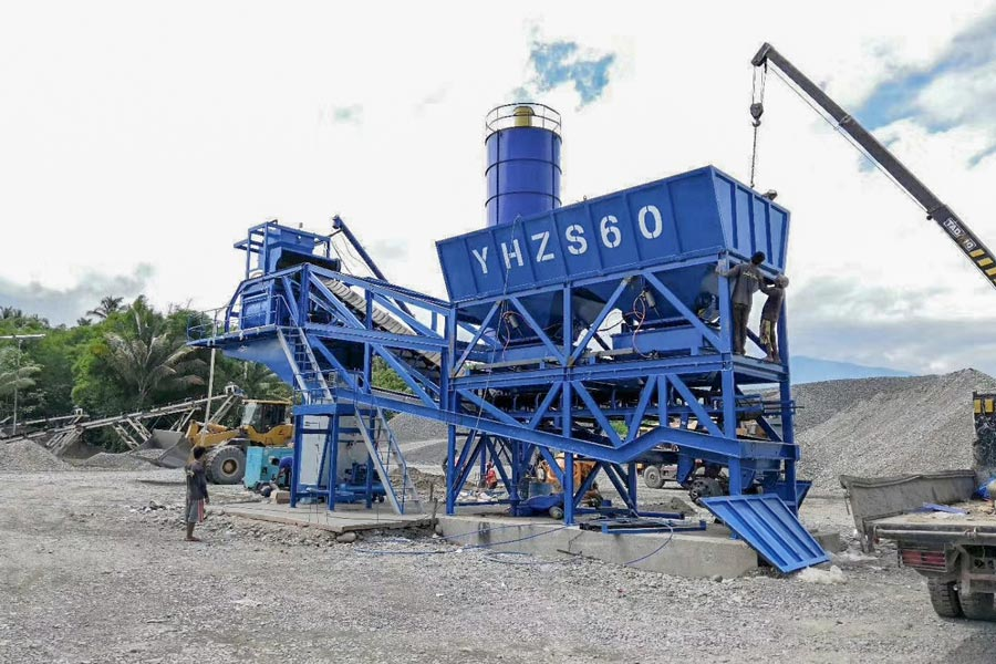 AJY60 batching plant in the Philippines