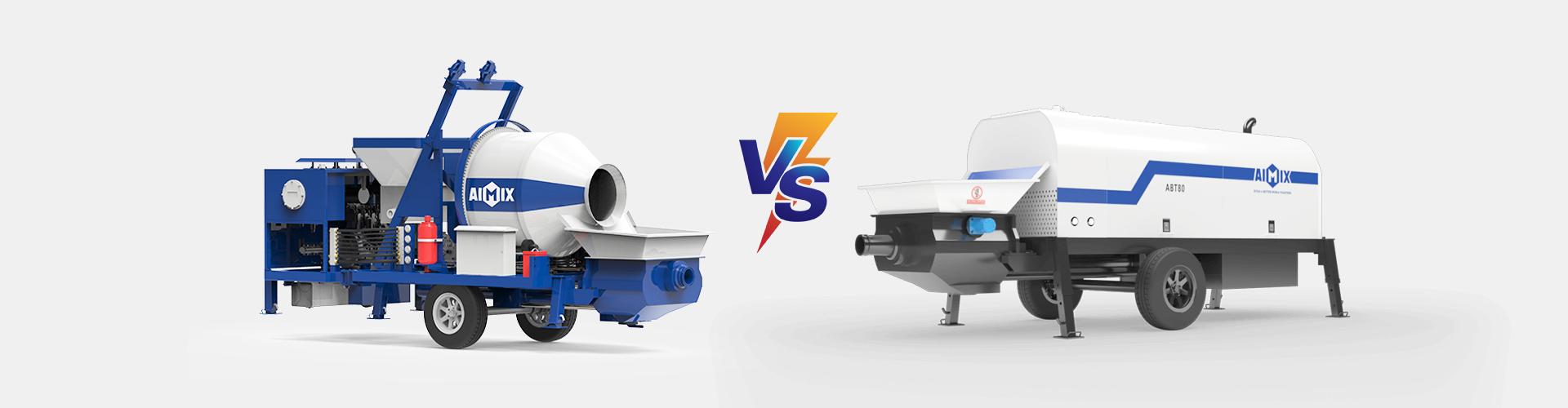 concrete mixer pump compares with trailer concrete pump