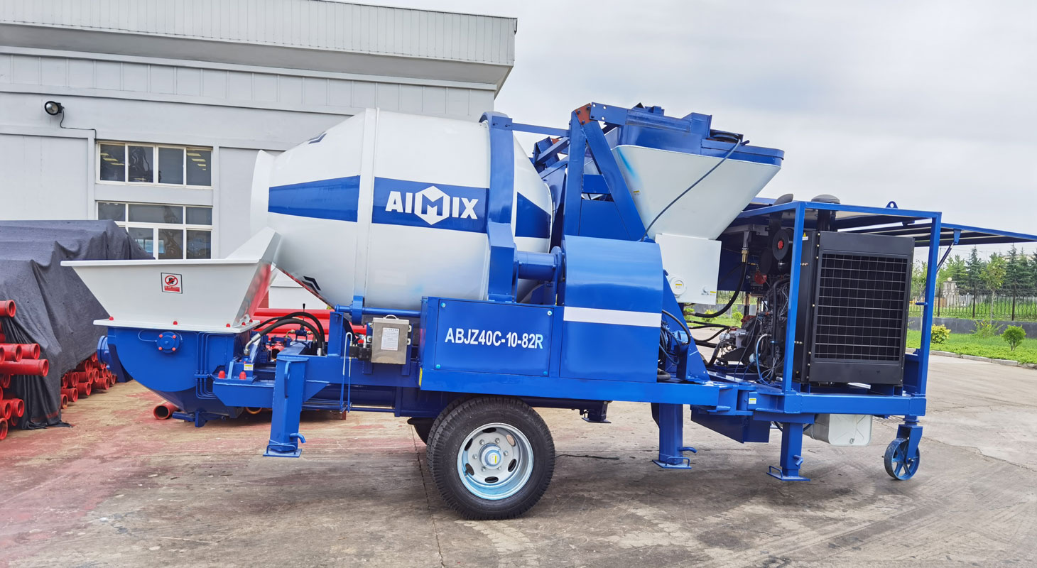 concrete mixing pump
