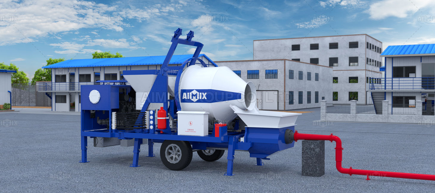 concrete pump pouring process
