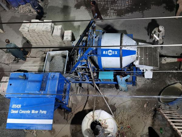 diesel cement mixer pump Pakistan