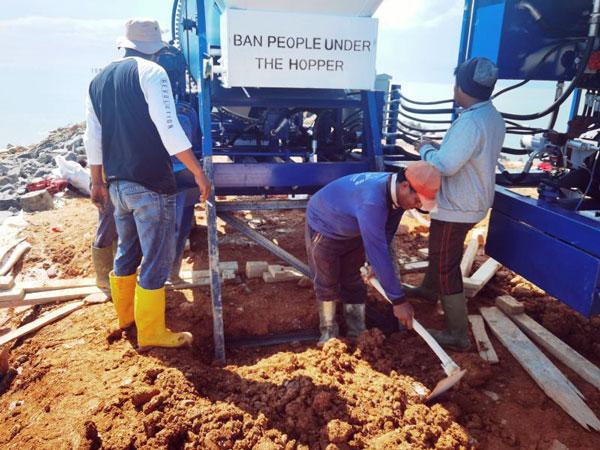 diesel concrete mixer pump in Indonesia