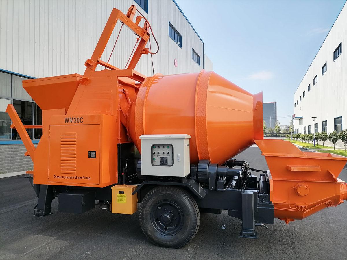 diesel concrete mixer pump to Nepal
