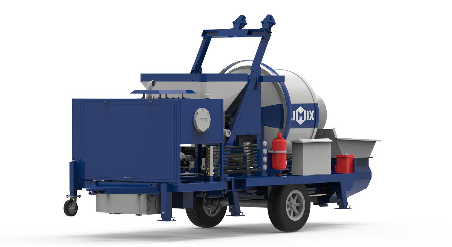 diesel concrete pump and mixer
