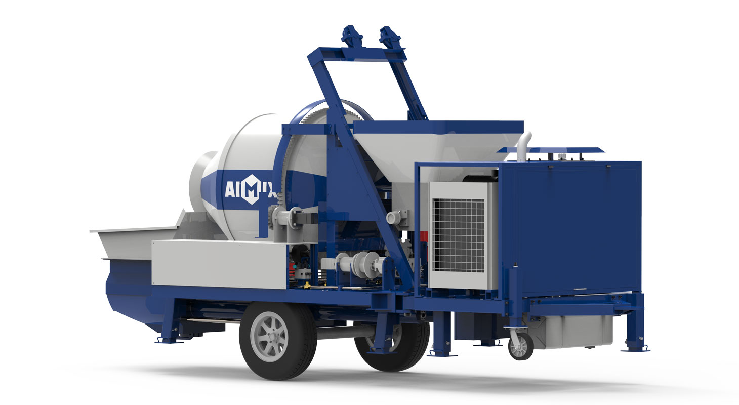 diesel concrete pump mixer