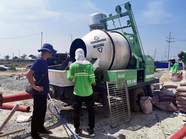 diesel engine concrete mixer pump in Philippines