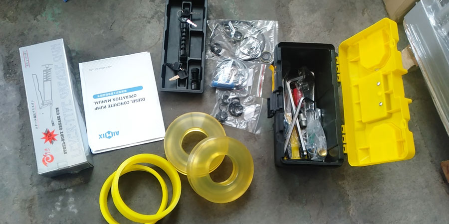 operation manual and spare parts