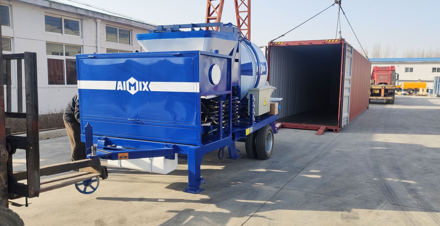 shipping picture of concrete mixer pump